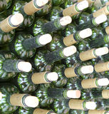 Very much stacked up wine bottles  with  corks Stock Photography