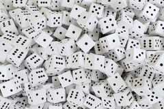 Very much white dices Royalty Free Stock Image