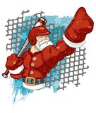 Santa Claus Baseball Player Calling His Shot stock illustration