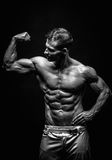 Very muscular handsome athletic man Stock Image