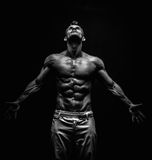 Very muscular handsome athletic man Royalty Free Stock Photo