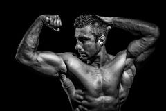 Very muscular handsome athletic man Stock Photography