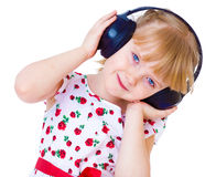 Very musical little girl having Stock Photo