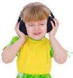 Very musical little girl having Royalty Free Stock Photo