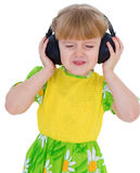 Very musical little girl having Royalty Free Stock Photos