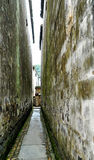 Very narrow roadway Stock Images