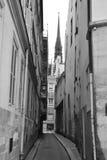 Very narrow street on Ile de la Cité in Paris Royalty Free Stock Image