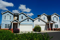 Very nice, attractive bright houses Stock Images