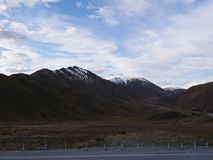 Lindis pass Royalty Free Stock Image