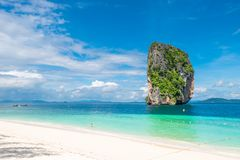 Very nice beach, nature reserve Poda Island. Thailand Royalty Free Stock Photography