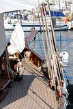 Very nice boat, regates royale. Boat show, r�gate royale 2007 (Cannes, France), ancient sailing boat Stock Photography