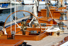 Very nice boat, regates royale. Boat show, regate royale 2007 (Cannes, France), ancient sailing boat Royalty Free Stock Photo