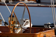 Very nice boat, regates royale. Boat show, regate royale 2007 (Cannes, France), ancient sailing boat Royalty Free Stock Photography