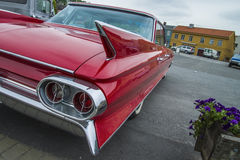 Very nice 1961 cadillac deville, detail wings Stock Photos
