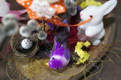 Nice colorful easter decorations in my room Royalty Free Stock Images