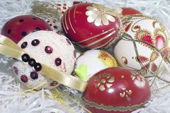 Nice colorful easter eggs close up Royalty Free Stock Photo