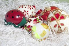 Nice colorful easter eggs close up Stock Images
