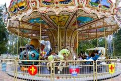 Very nice carousel. Very nice empty carousel in a Kharkov city, Ukraine Stock Photo