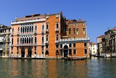 Very nice facade and channel in Venice (Venezia, Vinegia,Venexia, Venetiae) Stock Image