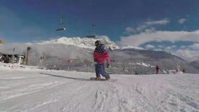Snowboarding. Very nice footage of people playing snowboard stock video footage