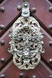 Very nice historical doorknocker. As nice architecture detail Royalty Free Stock Photos