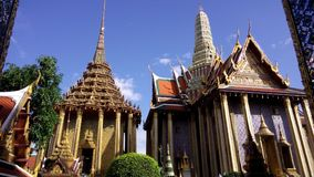 A very nice landmark of Thailand, Wat Pra Kaew. Wat Pra Kaew, is the famous temple in Bangkok, near Grand Palace. The wellknown temple which is very important stock photos