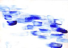 Multicolor acrylic paint texture abstract drawing Royalty Free Stock Photography