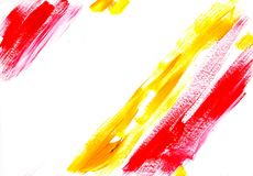 Multicolor acrylic paint texture abstract drawing Stock Images