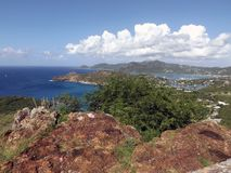 St Johns, Antigua. Very nice scene of the port in St Johns, Antigua stock images