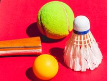 Very nice shuttlecock and ball tennis for sports icons