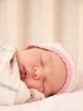 Very nice sweet baby girl sleeping Royalty Free Stock Image