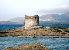 Very nice view of aragonese tower. In sardegna Royalty Free Stock Photos