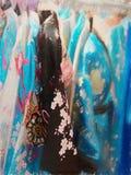 Very nice view kimono at market Stock Photo