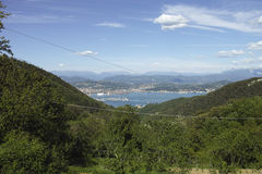 very nice view of la spezia gulf Royalty Free Stock Images