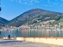very nice view of le grazie see from varignano military base Stock Image