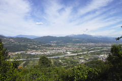 Very nice view of magra valley take from trebbiano village Stock Images