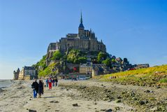 Very nice view of mont saint michel. In france Royalty Free Stock Images