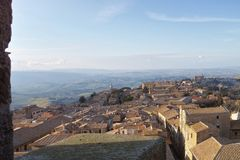 very nice view of volterra Royalty Free Stock Photo