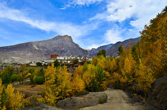 Very nice view on the way to muktinath Royalty Free Stock Photo