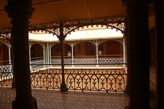 Very nice vintage steel fabrications in the palace of bangalore. Very nice  vintage steel fabrications in the palace of bangalore. Bangalore Palace, a palace Royalty Free Stock Images