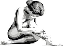 Very nice woman body Stock Photography