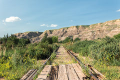 Very old abandoned railroad track Royalty Free Stock Images