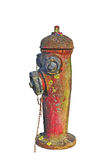 Very old abandoned red hydrant Royalty Free Stock Photo