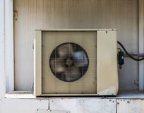 Old Air condition compressor cooling machine. Very old Air condition compressor cooling machine Royalty Free Stock Images