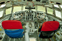 Old aircraft cockpit Stock Photography