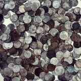 Very old ancient coins Stock Image
