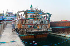 Very Old And Decrepit Traditional Dhows Wooden Boat Royalty Free Stock Photography