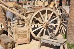 Very old arabian horse wagon Stock Photos