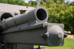 Very old artillery canon in a park Royalty Free Stock Photography