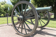 Very old artillery canon in a park Stock Photos